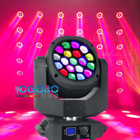 Flight Road Case+15Wx19 LED DMX Lamp Sharpie Beam Moving Head Wash DJ Disco Ball Band Theatre Nightclub Stage Lighting Equipment