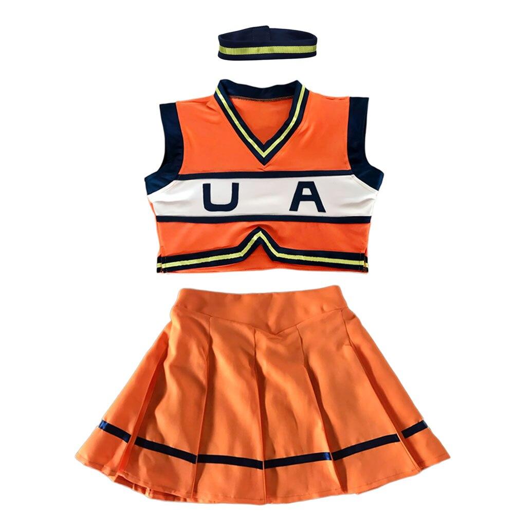 My Hero Academia Asui Tsuyu YAOYOROZU MOMO Jiro Kyoka OCHACO URARAKA Cheerleader Uniforms Boku No Hero Academia Cosplay Costume