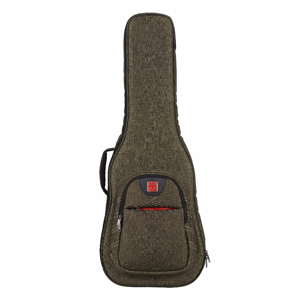 Music Area Acoustic Guitar Gig Bag Dark Green Soft Guitar Case 900D Polyester Waterproof 30mm Cushion WIND20 DA 12mm waterproof soprano concert ukulele bag case backpack 23 24 26 inch ukelele beige mini guitar accessories gig pu leather
