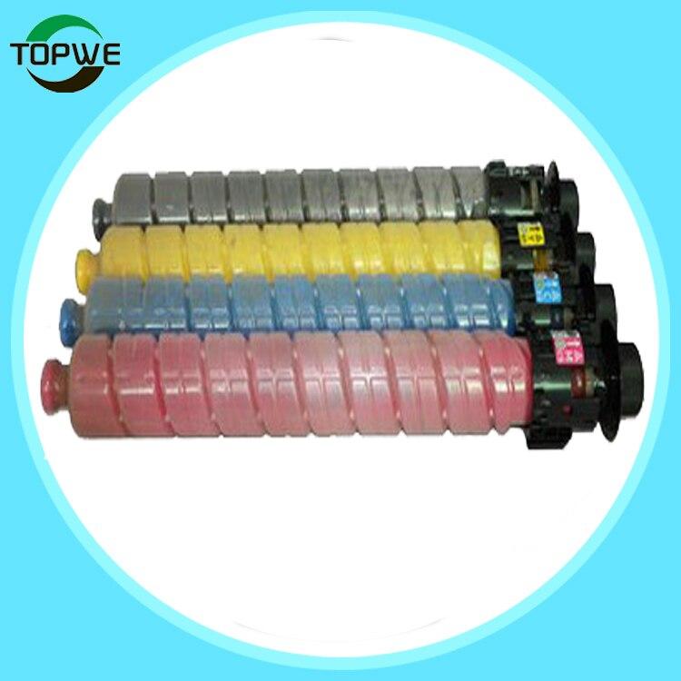 4 color compatible copier toner cartridge MPC2503LC for RICOH MP C2503LC C2503C C2003SP C2503SP printer chip printer copier toner cartridge reset for ricoh c820 821 chip compatible toner chip for ricoh sp c820 821 chip free shipping