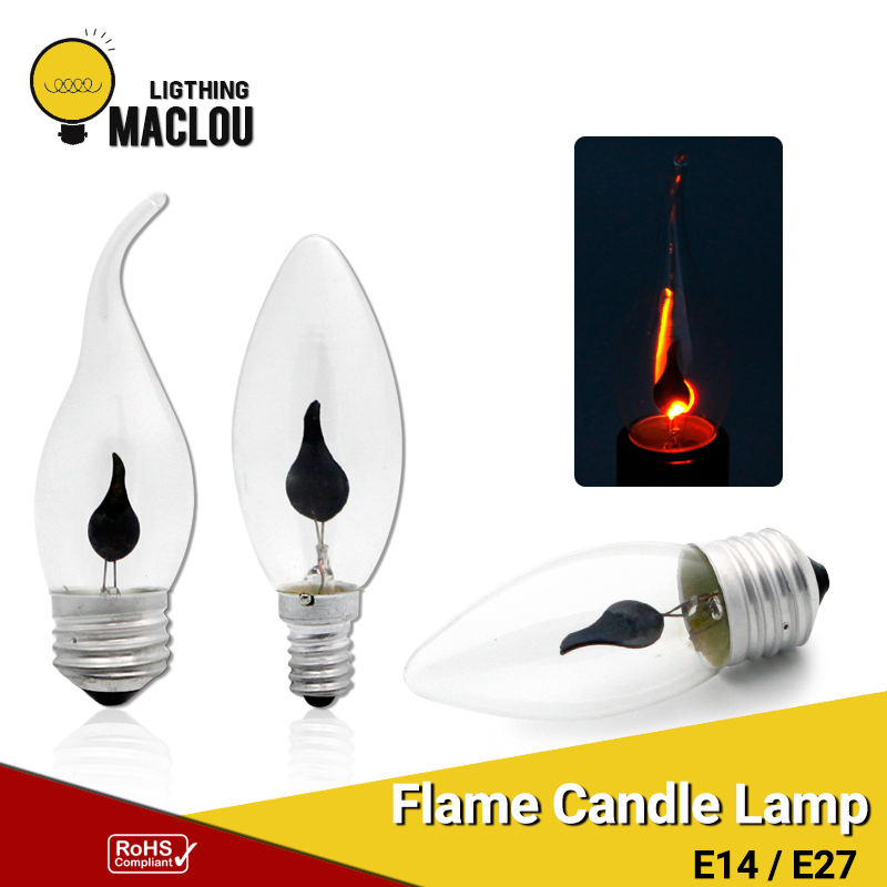 Led Bulbs & Tubes Light Bulbs Temperate Led Flame Bulb E27 E14 Lamps Fire Candle Light Bulb Flickering Flame Effect Edison Bulb Lampada Led Vintage Lamp Home Lighting Rich In Poetic And Pictorial Splendor