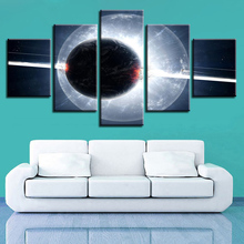 Modular Framework Pictures Art Printing 5 Pieces Earth Planet Posters Decoration Home Living Room Wall Abstract Canvas Painting