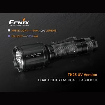 Lighting for Extremes Fenix TK25 UV Dual Lights Tactical Flashlight with White 1000 Lumens & UV 3000mW Lights