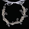 Elegant Tiara Hairwear Pearl Crystal Hair Jewelry Wedding Hair Accessories Head Chain Bridal Hairwear Romantic CY161117-190
