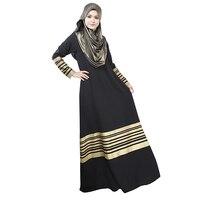 Women Kaftan Abaya Jilbab Islamic Muslim Long Sleeve Maxi Dress National Dress