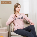 Qianxiu pajamas for women Comfortable leisure wear pajamas suits with letters for women