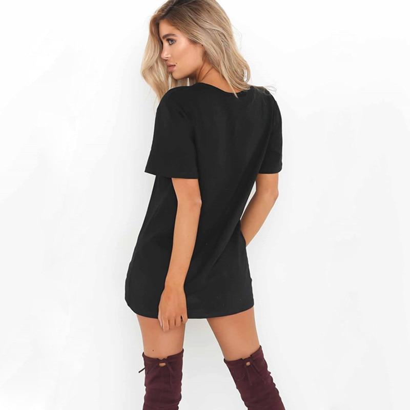 LASPERAL 2018 Sexy V Neck Cotton Summer Dresses Female Solid Casual Loose Dress Women A-Line Mini Vestidos Plus Size 3XL 2