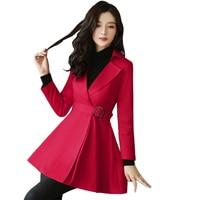 0ae5c2ae9eb8f Trench Coat For Women 2019 New Spring Fashion Elegant Long Red Khaki Coats  Plus Size Windbreaker. US $80.70 US $49.23. Trençkot Kadınlar Için 2019 Yeni  ...