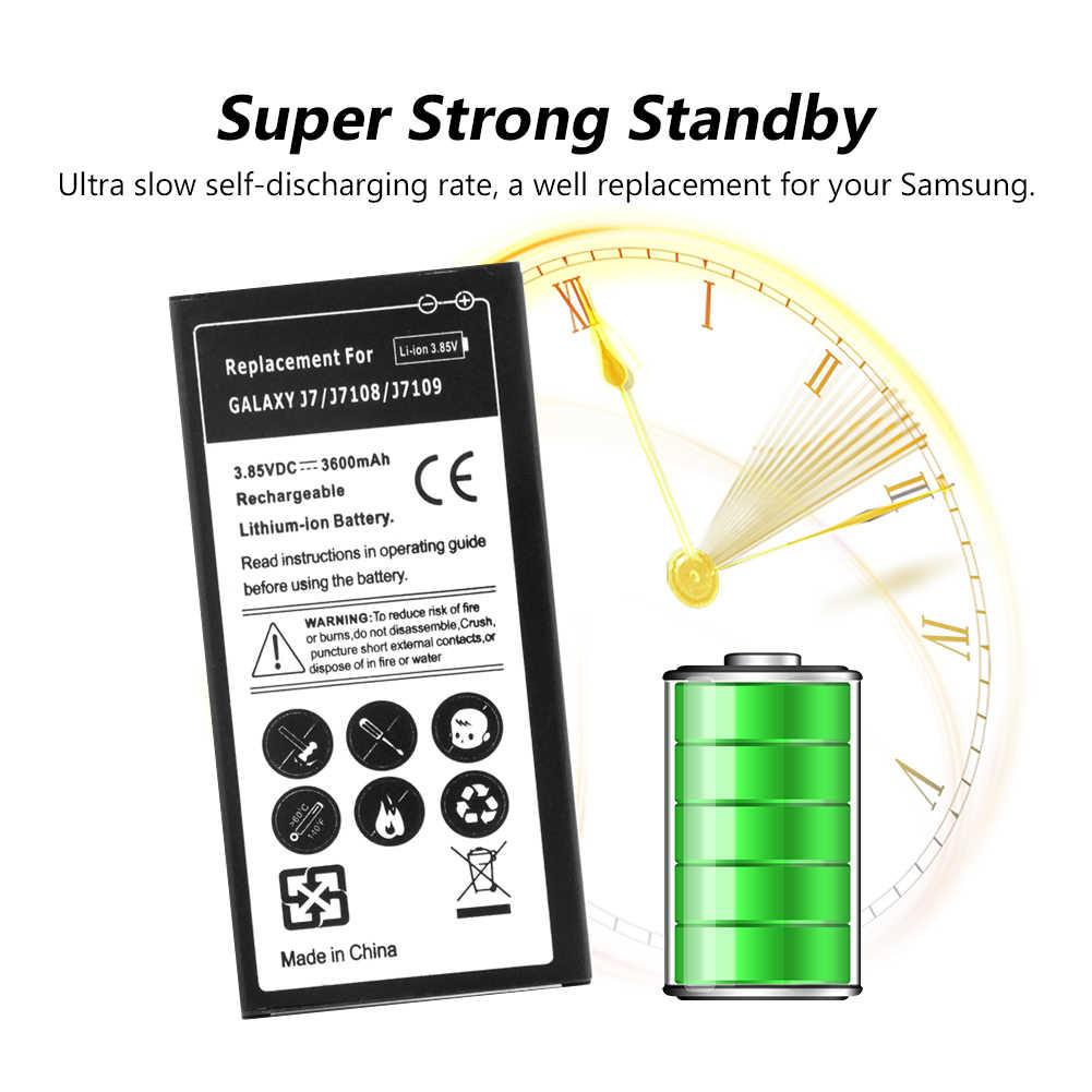 استبدال ليثيوم أيون بطارية لأجهزة سامسونج غالاكسي J7 2016 طبعة J710 J710F J7108 J7109 EB-BJ710CBE 3600mAh الهاتف المحمول Bateria