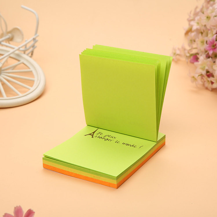 Kawaii Colorful Self-Adhesive Memo Pads Cute Square Sticky Paper Notes Post It Note Office School Supplies Students Stationery
