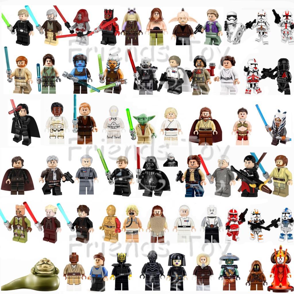 60 stücke Star Wars Figuren Jedi Han Solo Darth Vader Luke Skywalker Kraft Trooper Baustein Spielzeug Kompatibel Mit Lego-in Sperren aus Spielzeug und Hobbys bei  Gruppe 1