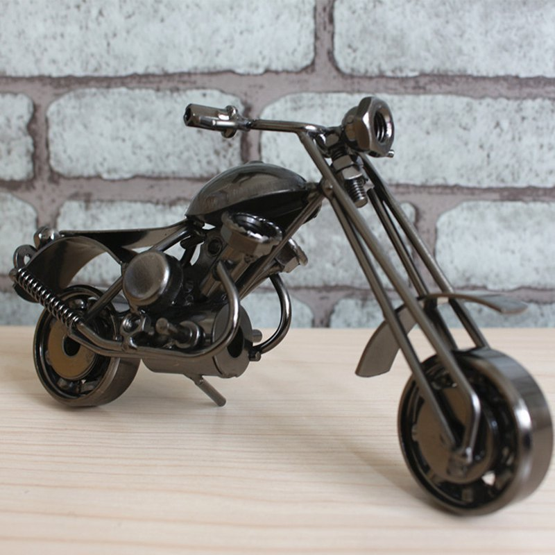 Retro Style Motorcycle Sculpture Classic Handmade