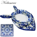 2017 new lady  small squares SILK SCARF Spring and summer women silk scarf Satin SCARVES for female