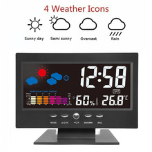 Snooze Function Digital Alarm Clock 8082T Plastic Date Week Temp Creative Time Weather Backlight Humidity