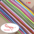 Length 1.4M 10PCS Solid Color TPU spiral USB Charger cable cord protector wrap cable winder for iphone samsung HTC Data Cable