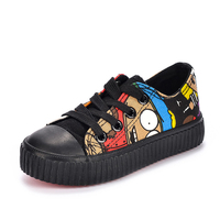 Autumn New Brand Shoes Hip Hop Graffiti Boys Girls Fashion Canvas Shoes Breathable Kids Sneakers Child