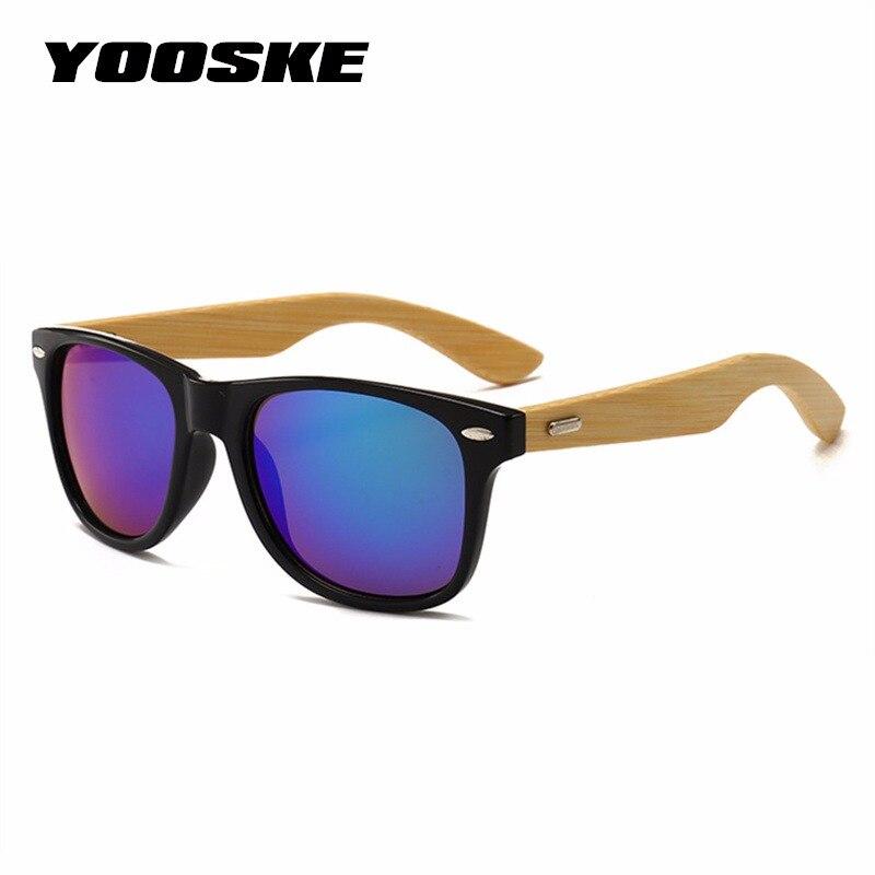3f369c2ff YOOSKE Clássico Do Vintage Óculos De Sol De Madeira Homens Mulheres  Espelhado Óculos Óculos de Lente