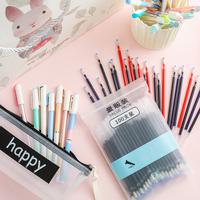 Student Writing Supplies School Stationery Pen Set 30/50 Pens+100 Refill +pencil Case + Pen Holder