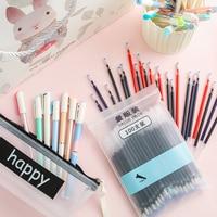 Student Writing Supplies School Stationery Pen Set 30/50 Pens+100 Refill +pencil Case + Pen Holder