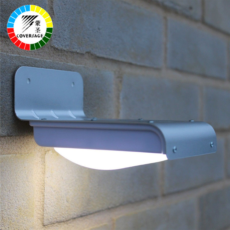Coversage 16 LED Solar Outdoor Iluminacion Luz Auto Motion Light Sensor Waterproof IP65 Led Energy Wall Lights Garden Porch Lamp