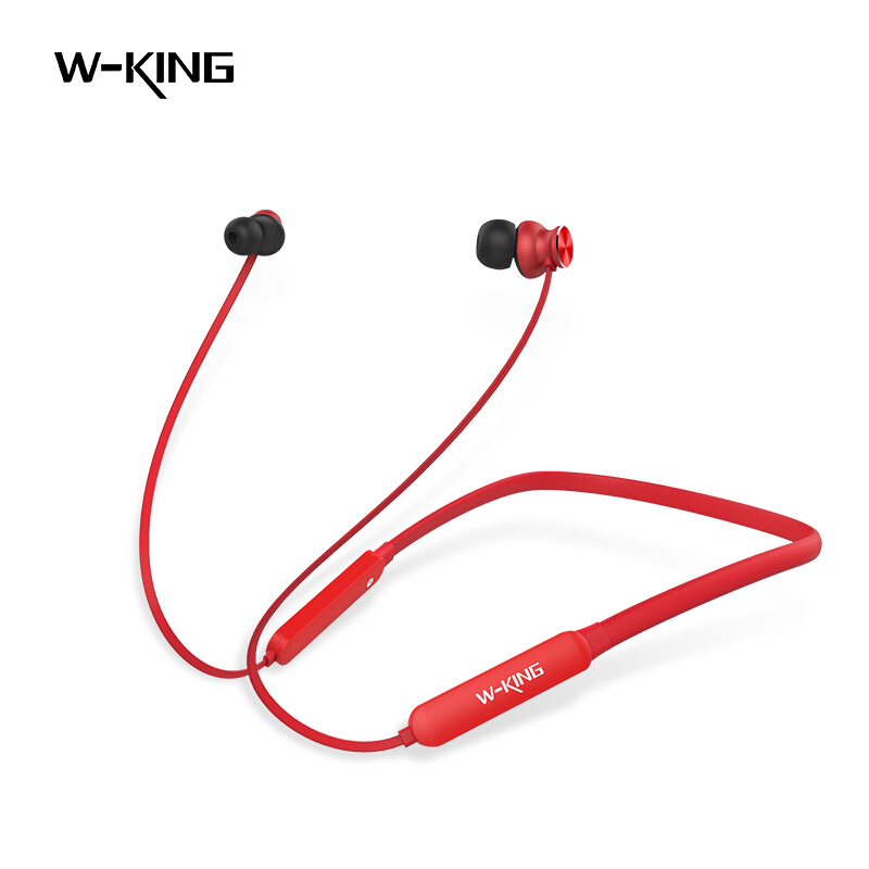 W-King 2018 New BS18 Red Headset Intelligent Noise Cancelling Bluetooth Game Music Headset Wireless Waterproof Sport Headset