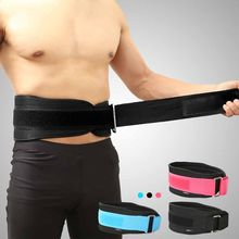 Waist Support Belt Weight Lifting Nylon EVA Weightlifting Squat Belt Lower Back Support Gym Bodybuilding Squats Training недорого