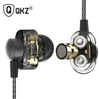 Earphones QKZ DM8 Mini Dual Driver Extra Bass Turbo Wide Sound Gaming Headset Mp3 DJ Field
