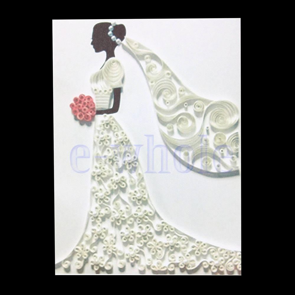 quilling paper tools kit bride wedding dress template mould board