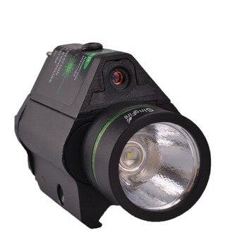 SingFire SF-P04 Tactical Pistol 5mw Green Laser Stroboscopic LED Flashlight CREE XR-E Q5 250LM Balck