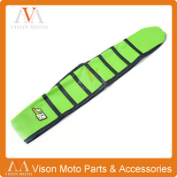 Ribbed Green Gripper Soft Seat Cover For Kawasaki KXF250 2013 2015 Dirt Pit Bike Motorcycle Motocross