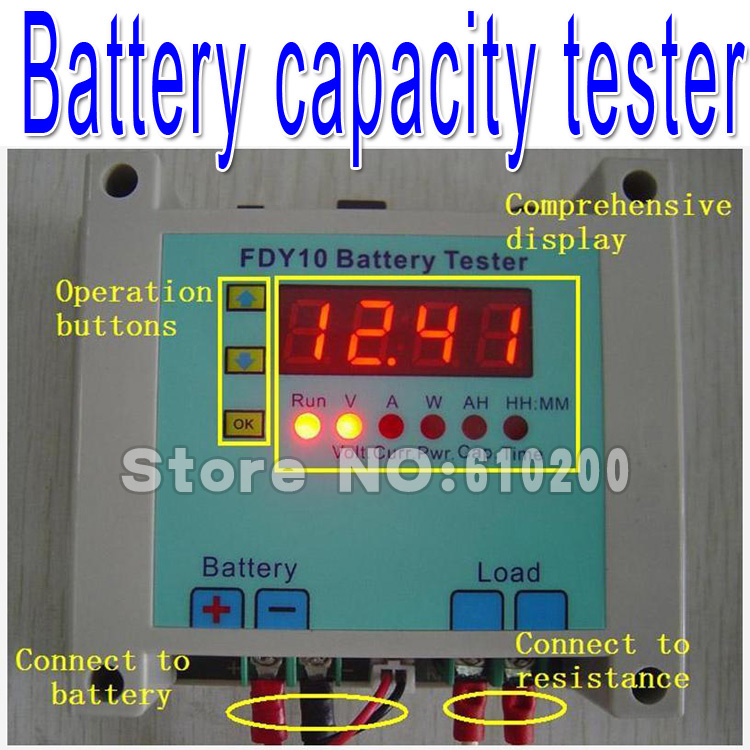 Free shipping 100% 1-20v Li-on Storage Battery Capacity Portable Tester,discharge instrument Digital Battery capacity tester ebc a40l high current battery capacity tester battery line graph battery tester battery testing 20acharge 40a discharge