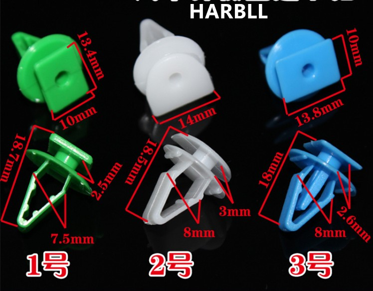 HARBLL 10pcs Windshield chassis shield diversion board sub suitable for snap Fit CRV Odyssey Civic Accord