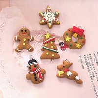 6/11 Pcs Mini Gingerbread Man Christmas Ornaments Deer Snowman Chrismas Tree Pendant Decoration New Year Decor Party Supplies