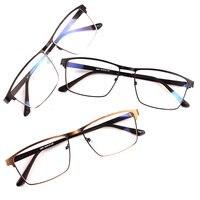 Metel Alloy Eyeglasses Full Rim Optical Frame Prescription Men Women Spectacle Reading Myopia Eye Glasses