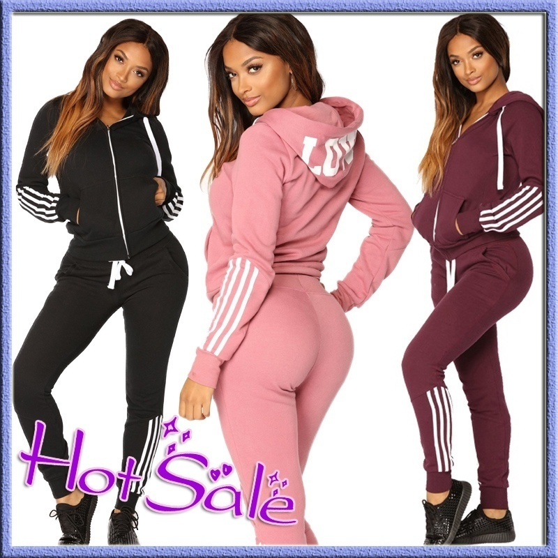 Women 39 s Hot Sale Hoodies Set Long Sleeved Sweater Trousers Sportswear Tracksuit Sports Anzug Herrn Casual Streetwear Fashion Set in Women 39 s Sets from Women 39 s Clothing