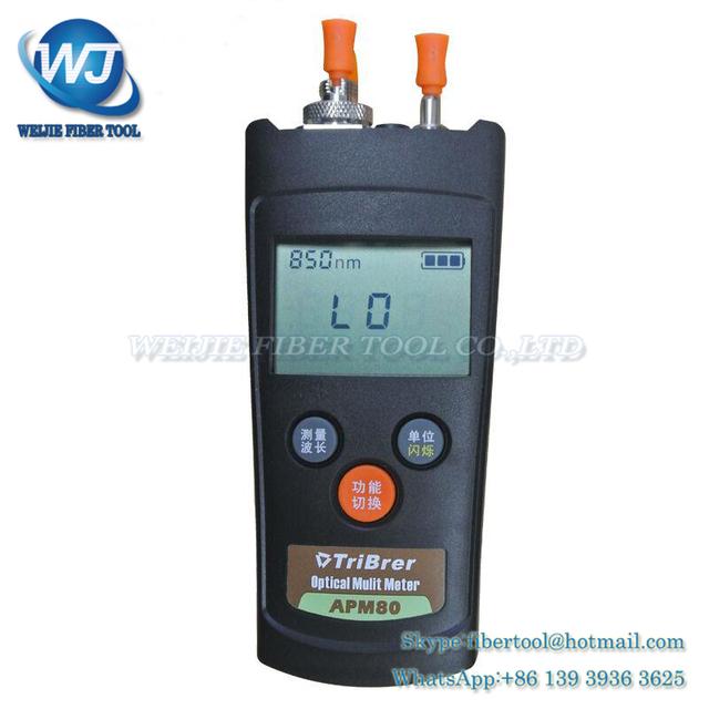 Tribrer APM-80T-V1 OPM Mini tipo de mano Medidor de Potencia Óptica y Localizador Visual de Fallos De Fibra Óptica Herramienta de-70 ~ + $ number dbm 1 mW VFL