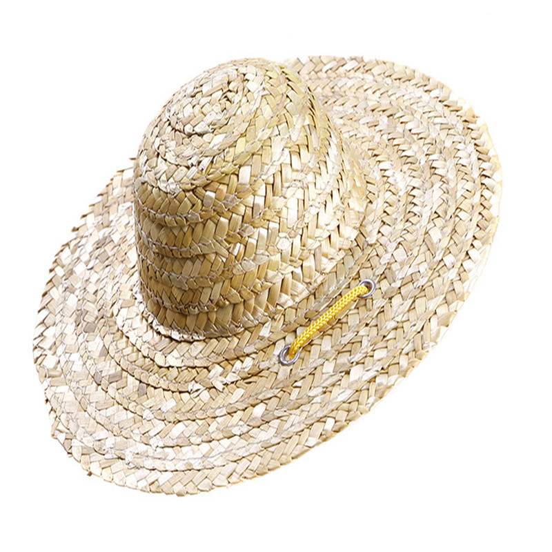 ec0392d8c707a Venta Meng moda retro al aire libre campesino sombrero de paja estilo  Perros Gatos CAPS nueva mascotas en Gorros para perro de Hogar y Jardín en  ...