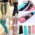 New 2015 baby girl Lace baby Leg warmers Baby lace stocking Baby girl leggings ballet for 3~8 years