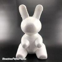 Party Decoration 1 pcs DIY Foam Dog Rabbit White Craft Modelling Polystyrene Styrofoam Balls For Supplies Gifts Valentine's Day