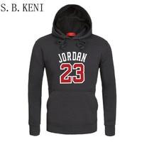 2018 Brand Male Hip Hop Long Sleeve JORDAN 23 Hooded Sweatshirt Mens Hoodie Tracksuit Sweat Coat