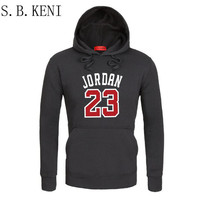 2018 Brand Male Hip Hop Long Sleeve JORDAN 23 Hooded Sweatshirt Mens Hoodie Tracksuit Sweat Coat