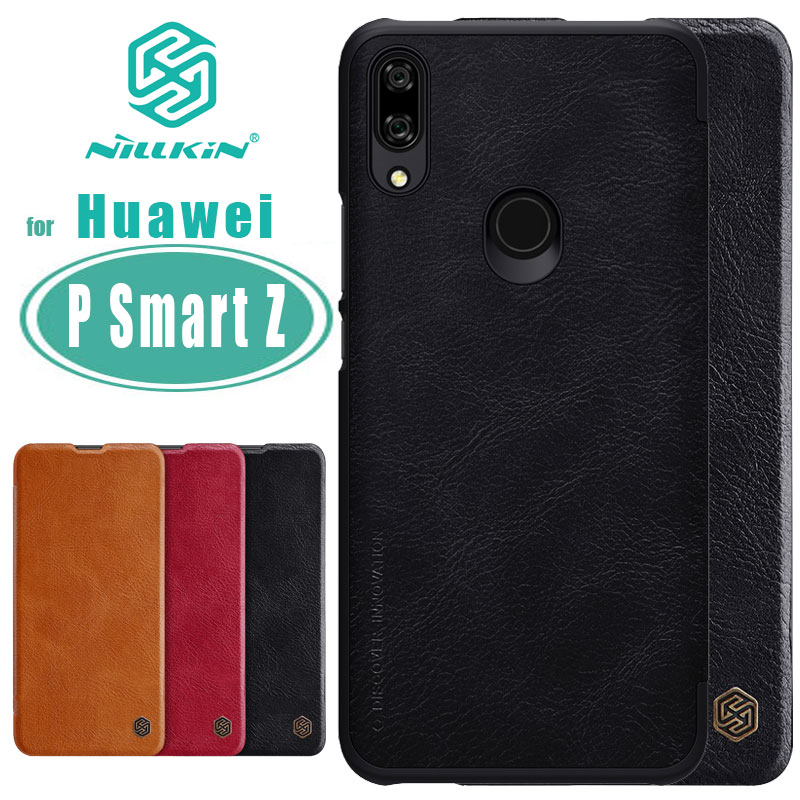 for Huawei P Smart Z Case NILLKIN Qin Business Flip Leather Case Card Slot Back Cover for Huawei P Smart Z Phone Case