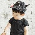 Последние звезда печатных ребенка детских шапок милый пальца-восстановительные хорн-образный унисекс летняя шапка мальчик спортивная шапка 1 шт.