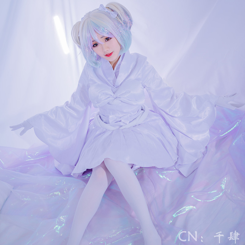 Houseki no Kuni Diamond White Nightgown Land of the Lustrous Cosplay Costume Full Outfit COSPLAYONSEN