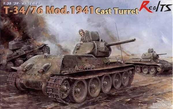RealTS Dragon Modèle Kit 1/35 T-34/76 Mod.1941 Cast Turret (6418)