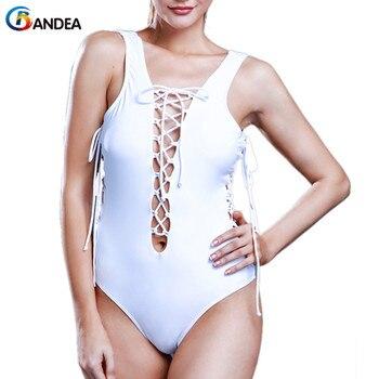 BANDEA, bañador de una pieza para mujer, monokini, novedad de 2019, bañador sexy, bañador de banda sólida, bikini de corte alto, traje de baño de marca HA518