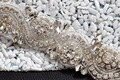 TOPQUEEN S164A Amazing Free shipping 100% pure handmade Wedding Appliques Crystal Rhinestobe Evening Dresses Trimming