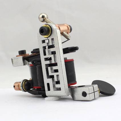 Professional Handmade Tattoo Machine 10-Wrap Coils  Iron Cast Frame Custom  Tattoo Gun For Liner Shader Free Shipping TM-812 gletcher ngt silver