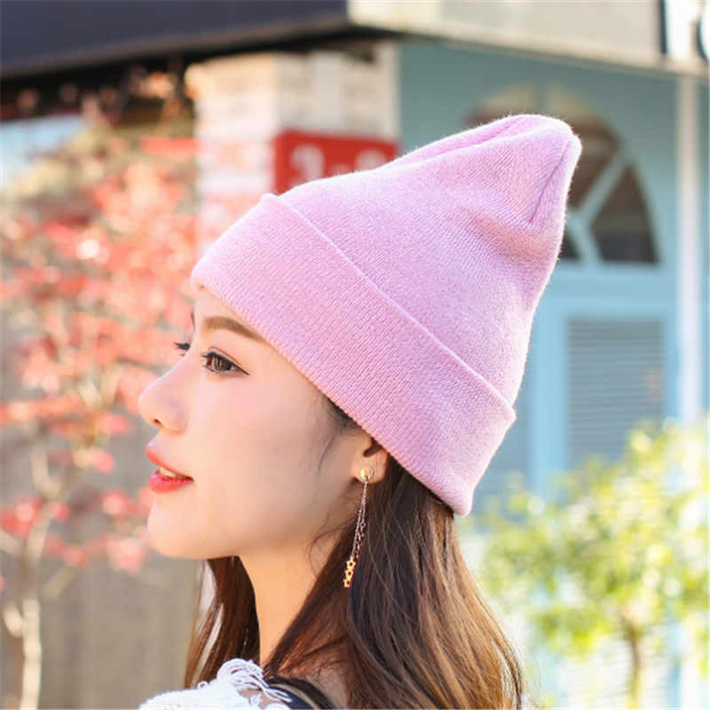 5063b5212ad2e8 ... Hat Female Unisex Cotton Solid Warm Soft Hot HIP HOP Women's Knitted  Winter Hats For Men ...