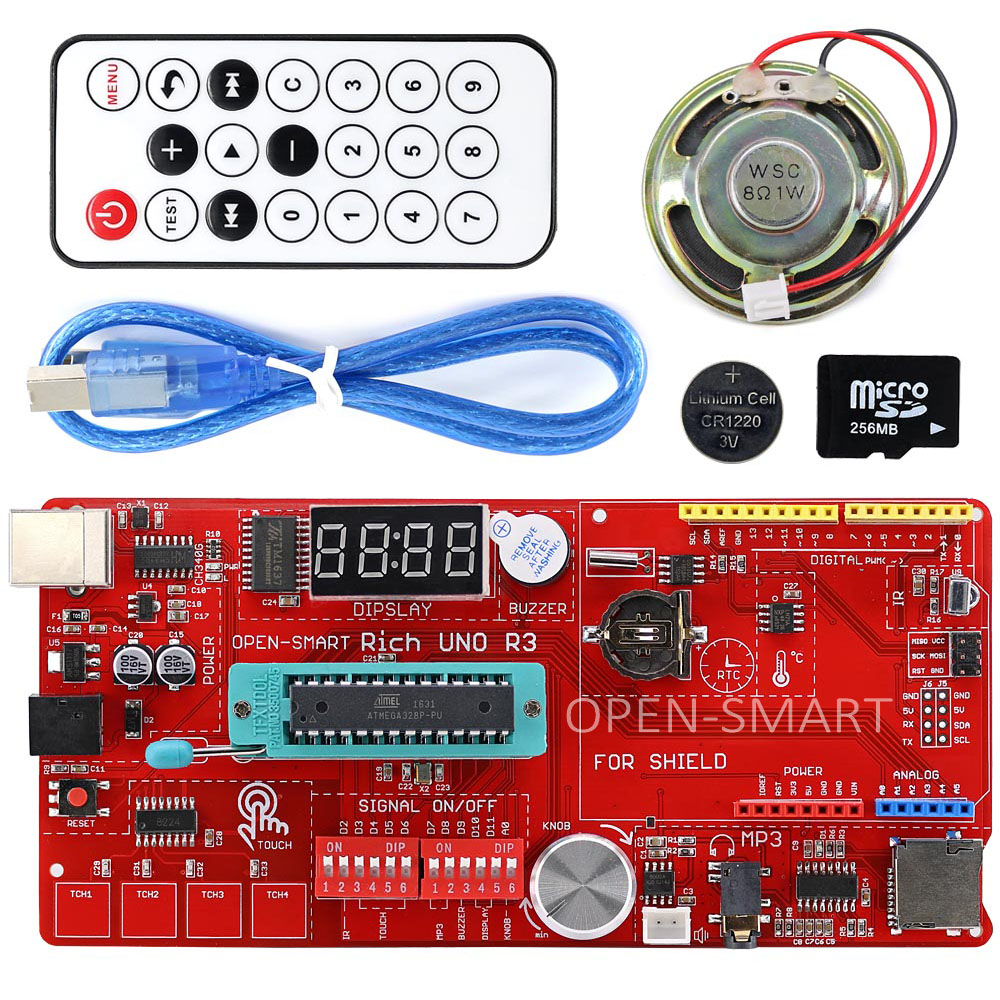 Rich multifunction uno r atmega p development board kit